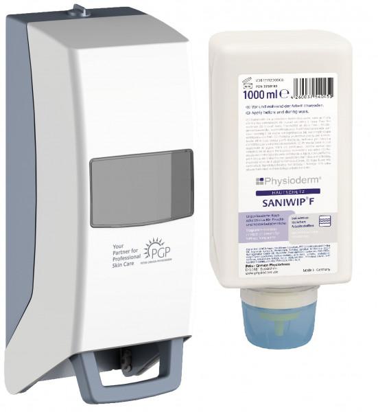 SANIWIP®  schützt die Haut bei Arbeiten mit Wasser und beim Umgang mit verdünnten tensidischen Lösungen und verdünnten Alkalien wie z. B. Waschund Reinigungslösungen